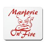 Marjorie On Fire Mousepad