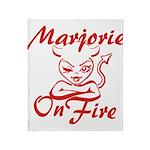 Marjorie On Fire Throw Blanket