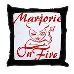 Marjorie On Fire Throw Pillow