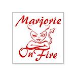 Marjorie On Fire Square Sticker 3