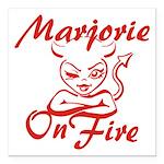 Marjorie On Fire Square Car Magnet 3
