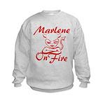 Marlene On Fire Kids Sweatshirt