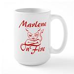 Marlene On Fire Large Mug