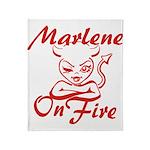 Marlene On Fire Throw Blanket