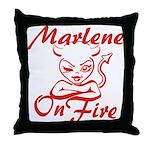 Marlene On Fire Throw Pillow