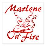 Marlene On Fire Square Car Magnet 3