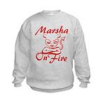 Marsha On Fire Kids Sweatshirt