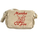 Marsha On Fire Messenger Bag