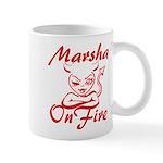 Marsha On Fire Mug