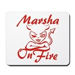 Marsha On Fire Mousepad