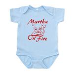 Martha On Fire Infant Bodysuit