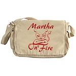 Martha On Fire Messenger Bag