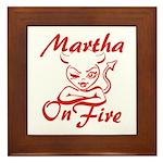 Martha On Fire Framed Tile
