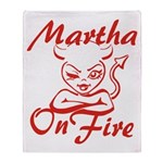 Martha On Fire Throw Blanket