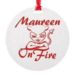 Maureen On Fire Round Ornament