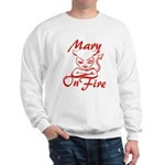 Mary On Fire Sweatshirt