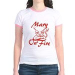 Mary On Fire Jr. Ringer T-Shirt