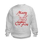 Mary On Fire Kids Sweatshirt