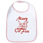 Mary On Fire Bib