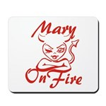 Mary On Fire Mousepad