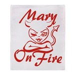 Mary On Fire Throw Blanket