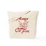 Maya On Fire Tote Bag