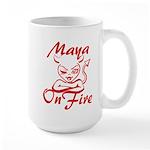 Maya On Fire Large Mug