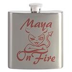Maya On Fire Flask