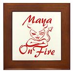 Maya On Fire Framed Tile