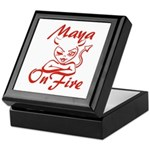Maya On Fire Keepsake Box
