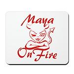 Maya On Fire Mousepad