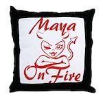 Maya On Fire Throw Pillow