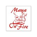 Maya On Fire Square Sticker 3
