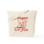 Megan On Fire Tote Bag