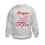 Megan On Fire Kids Sweatshirt