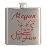 Megan On Fire Flask