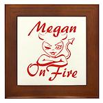 Megan On Fire Framed Tile
