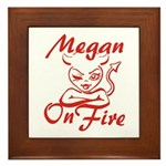 Megan On Fire Framed Tile