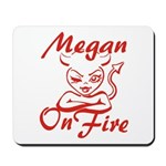 Megan On Fire Mousepad