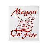 Megan On Fire Throw Blanket