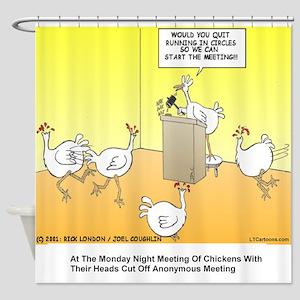 ChickenHead Anonymous Shower Curtain