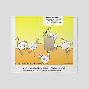 ChickenHead Anonymous Throw Blanket