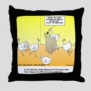 ChickenHead Anonymous Throw Pillow