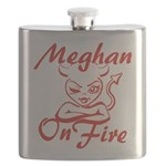 Meghan On Fire Flask