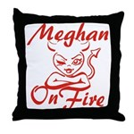Meghan On Fire Throw Pillow