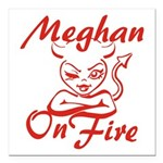 Meghan On Fire Square Car Magnet 3