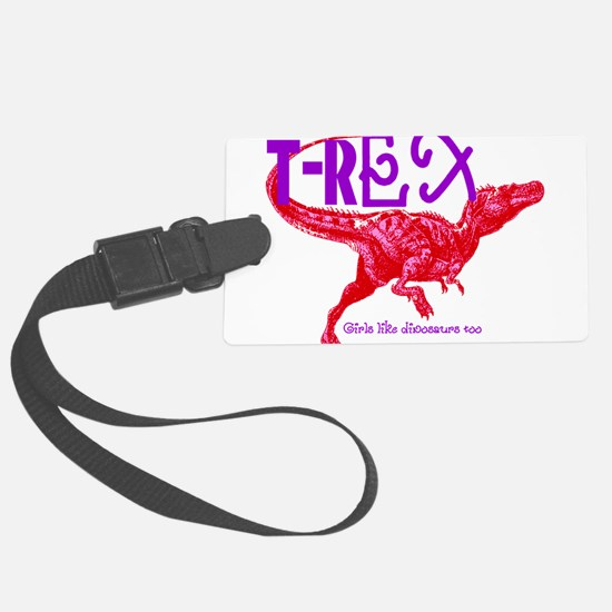 Hot Pink T-Rex Luggage Tag