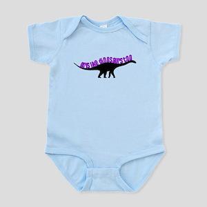 Girls Like Dinosaurs Too - Diplodocus Infant Bodys