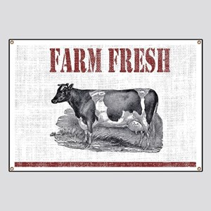 Country Chic Cow Farmhouse Banner