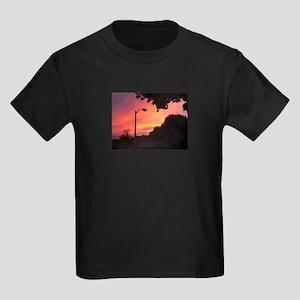 Orange Twilight Kids Dark T-Shirt